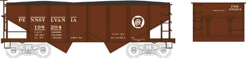 HO Scale: PRR GLa Hopper Kits Released