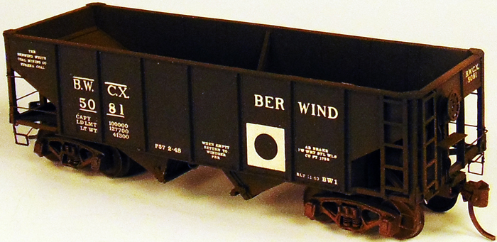 HO Scale: Berwind BW-1 Hopper Updated and Released