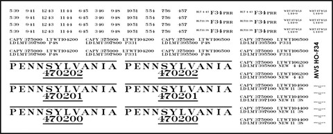 HO Scale: PRR F34 Flat Car Decals Released