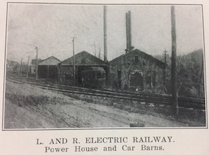 lewistown electric railway car barn t