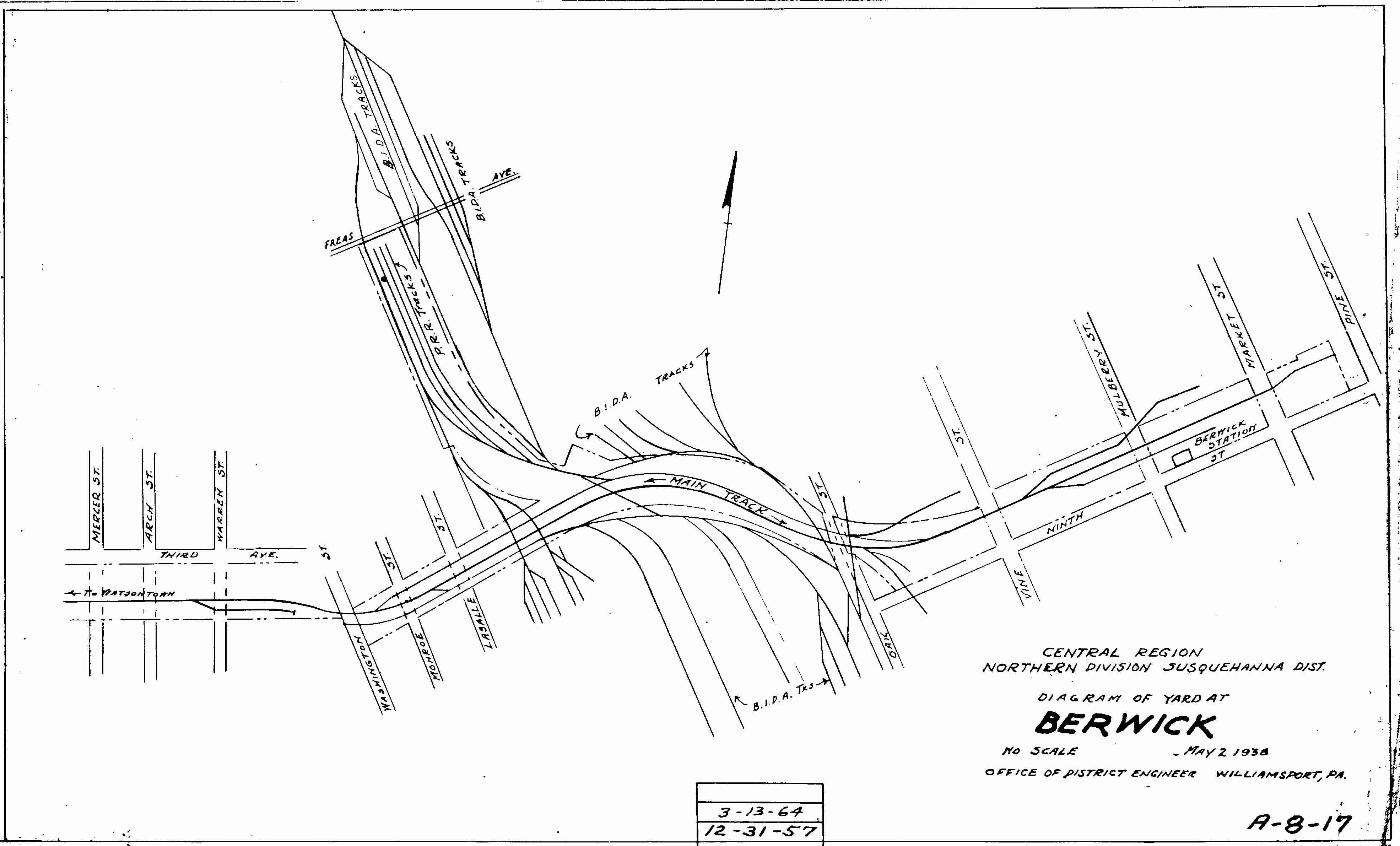 Berwick1 Railroad Yard Schematic Diagrams on computer circuit board, samsung lcd tv, am tube radio, sony tv, digital multimeter, hvac system,