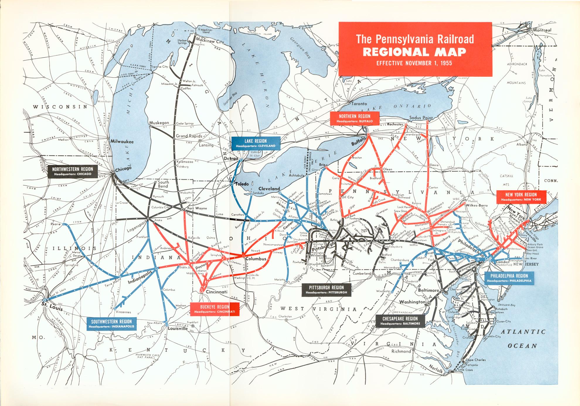 Pennsylvania Railroad Map Keystone Crossings   Maps & Charts Pennsylvania Railroad Map