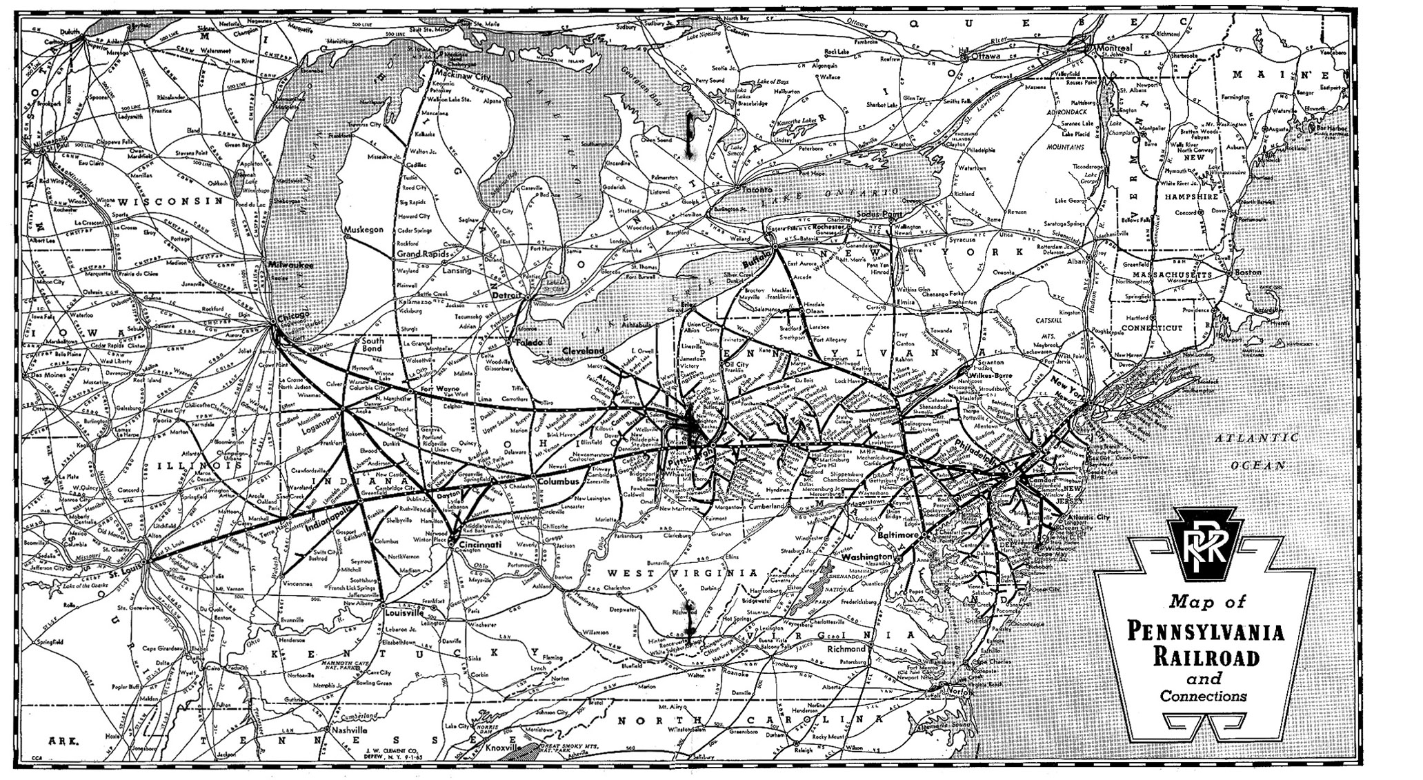 Pennsylvania Railroad Map Keystone Crossings   Maps & Charts Pennsylvania Railroad Map